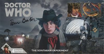 Doctor Who The Sontaran Experiment Collectable Stamp Cover Signed TOM BAKER
