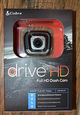 Cobra CDR855BT Drive HD Dash Cam with Bluetooth Smart Enabled GPS and iRadar A
