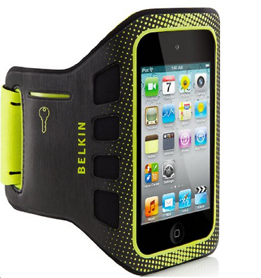 NEW Belkin iPod Touch 4G 4th Gen Armband EaseFit Sport Black Yellow Case Pack