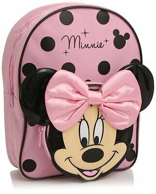 Disney Minnie Mouse 3D Backpack Rucksack School Bag - Cute Design - NEW