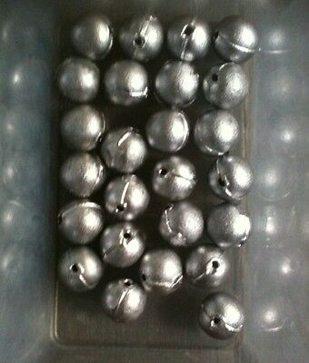 Bulk Lot Of 25 X No.3 Round Ball Sinkers - Lead Weights - Fishing Tackle - 16g