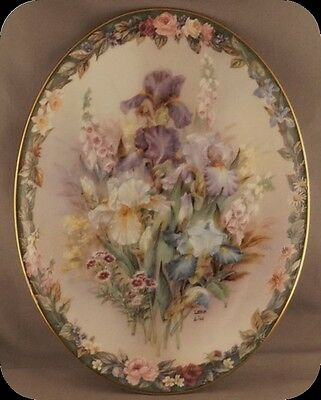 Lena Liu Cherished Floral Cameos Collector Plate