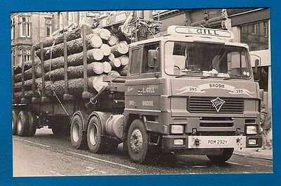 Postcard - L. Gill of Brodie: Foden S106 PDM292Y with logs - MB Transport Photos