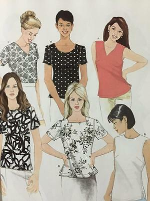 Simplicity Sewing Pattern 8061 Ladies Misses Tops Size 8-16 UC New