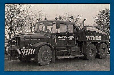 """Postcard - Wynns Scammell Contractor """"Dreadnought"""" XFA217X - MB Transport Photos"""