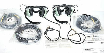 David Clark H5040 VOICE POWERED Communication Headphone Set aircraft maintenance