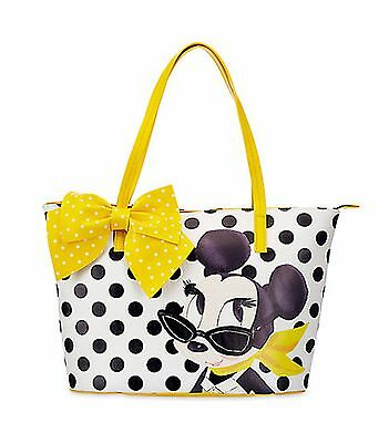 Disney MINNIE MOUSE SIGNATURE TOTE Yellow Bag Polka Dots BRAND NEW 2017 Purse