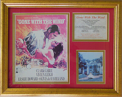 GONE WITH THE WIND Movie Poster COLLAGE  Marquee Poster PHOTO PRINT  and Cast of