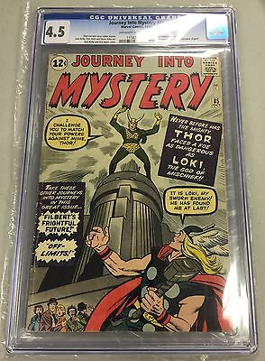 JOURNEY INTO MYSTERY #85 CGC 4.5 off-white / white pages CANADA SELLER 1st LOKI