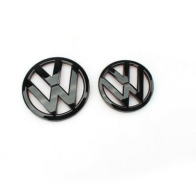 Gloss Black Front Rear Trunk Hood Logo Decal Pair Emblem for Scirocco MK3 VW