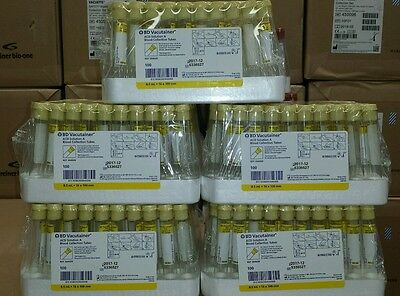 BD Vacutainer tube 364606 yellow top 5 boxes of 100 Exp 12-17 ACD Solution