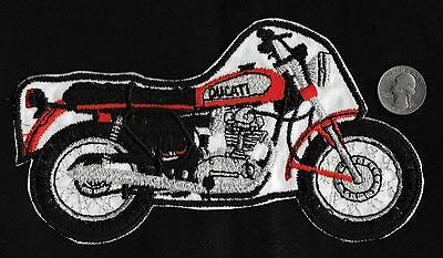 Vintage 60-70s DUCATI BIKE Racing Motorcycle Biker Gearhead Large Jacket Patch