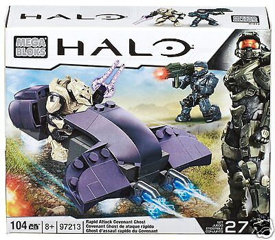 Mega Bloks Halo Rapid Assault Covenant Ghost - Approx. 104 pieces -  NEW!