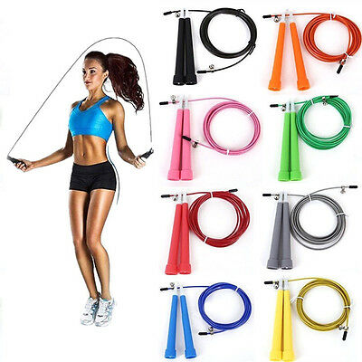 Adjustable Steel Wire Skipping Jump Rope Cardio Exercise Fitness Crossfit Light