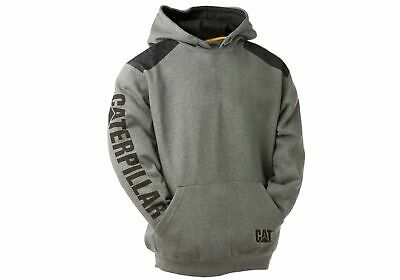 New Caterpillar Mens Comfortable Versatile Logo Panel Hooded Sweat Shirt