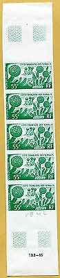 MNH Somali Coast Proof/Imperf Strip of 5 (Lot #scs92)