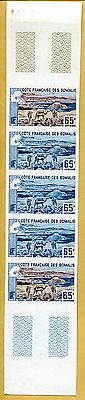MNH Somali Coast Proof/Imperf Strip of 5 (Lot #scs13)