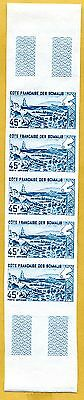 MNH Somali Coast Proof/Imperf Strip of 5 (Lot #scs2)