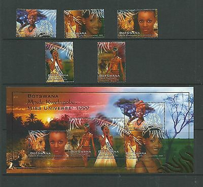 Botswana 1999 Miss Universe SG905-09 + MS910, Cat.£19.50+, mnh