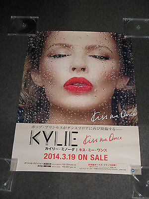 FREE SHIP 2014 JAPAN PROMO POSTER for KYLIE MINOGUE KISS ME ONCE