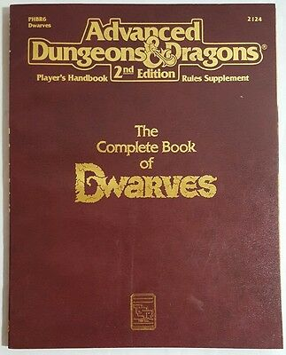TSR Advance Dungeons & Dragons AD&D 2124 Complete Book Of Dwarves