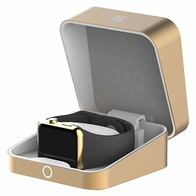 Promate 'auraBox' Wireless Charging Box for Apple Watch, Gold