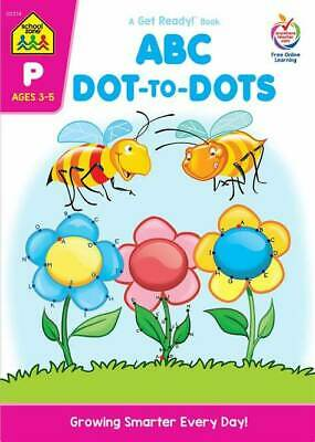 School Zone ABC Dot-to-Dot Get Ready Book + FREE SHIPPING