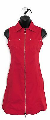 DAILY SPORTS Women's Golf One Piece Sleeveless Dress (Red) - X-Small