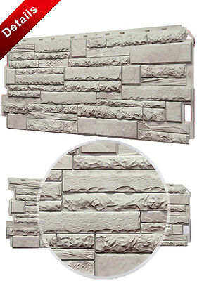 Faux Rustic Stone Wall Panels House Building Exterior Facade Cladding Wall Decor