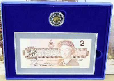 Canada 1999 $2 Proof Coin and Bank Note Set Royal Canadian Mint