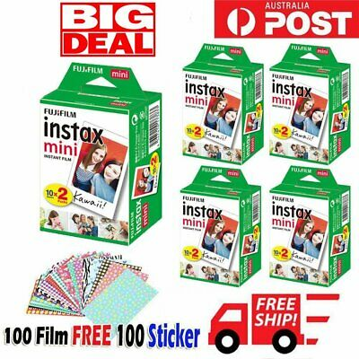 Fujifilm Instax White Film Instant for Fuji Mini 8 9 25 70 90 Polaroid 300 AU