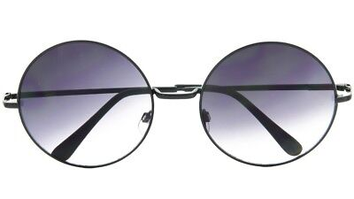 Large Round Sunglasses Gradient Lens with Spring Hinges, 57mm