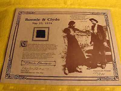 Bonnie & Clyde Piece Of Clyde Barrow's Pants Worn At Time Of Ambush