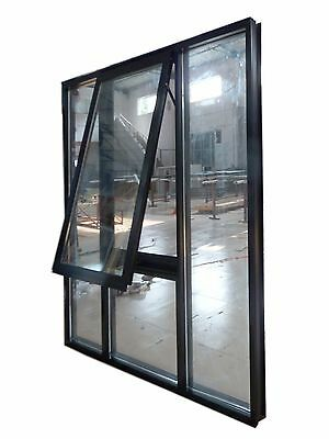 Aluminium Awning window Double glazed 1800H x 1800W flyscreen and lock IN STOCK