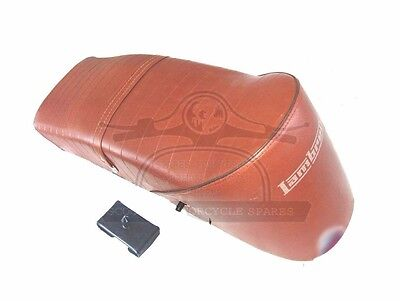 Lambretta Slope Back Ancillotti Type Seat Gp Li Tv Sx Brown