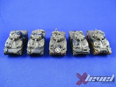 US042 M4A1 Sherman [Resin and Metal] [x5] USA [Flames of War] Painted
