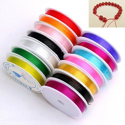 10 Rolls Strong Stretchy Crystal Elastic Cord Rope Beading String 0.6mm - 1.0mm