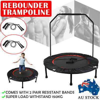 "40"" Mini Trampoline Fitness Rebounder Jogger Home Gym Exercise + Resistant Bands"