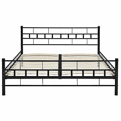 doppelbett ehebett metallbett 160x200 ehebett schwarz mit lattenrost top neu2017 eur 109 00. Black Bedroom Furniture Sets. Home Design Ideas