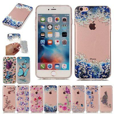 Silicone Rubber Shockproof Clear Soft TPU Cover Case For Apple iPhone6 6S Plus