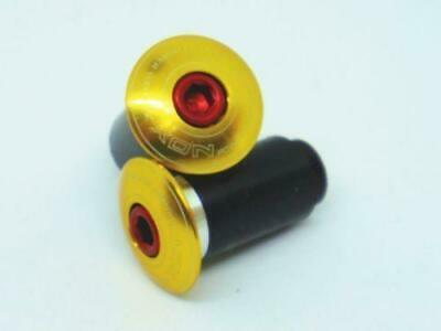"""XON Machined Bar end cap """"Gold"""" For MTB Road Bicycle"""