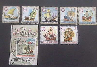 Equatorial Guinea-1973-Sailing Ships/Explorers-Full set plus Minisheet-MNH
