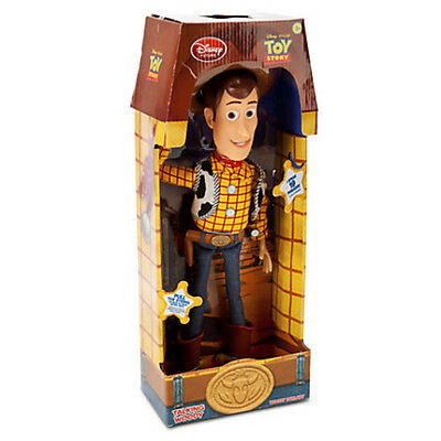 "16"" WOODY Talking Doll Disney Toy Story 3 Pull String Figure Sheriff Cow Boy"