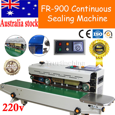 Automatic Horizontal Continuous Plastic Bag Band Sealing Sealer Machine FR900 AU