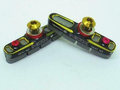 "XON Full CNC heat release 2 tone road brake pads For Alloy Rims ""Black/Gold"""