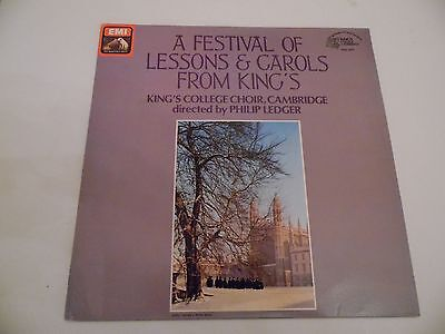 """A FESTIVAL OF LESSONS & CAROLS FROM KING'S. 12"""" 33rpm LP Record . 1979 ."""