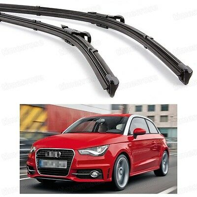 2Pcs Car Front Windshield Wiper Blade Bracketless Fit for Audi A1 2011-2014
