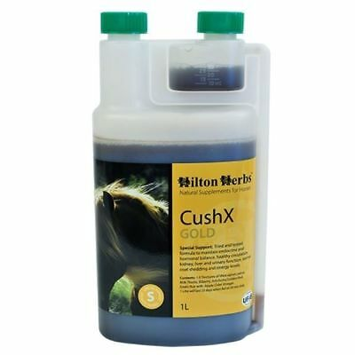 HILTON HERBS CUSH X GOLD horse supplement coat shedding veteran health support