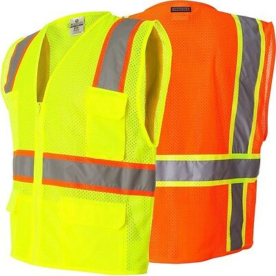 High Visibility Hi Reflective Vest EN471 Waistcoat garment Safety workwear UK