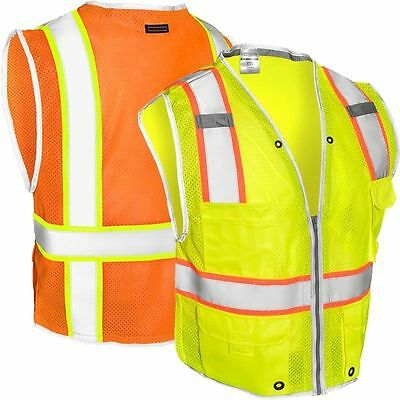 Hi Vis High Viz High Visibility Vest CLASS 2 HEAVY DUTY SAFETY VEST UK SELLER